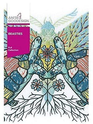 Anita Goodesign BEASTIES Full Embroidery Design Collection 345AGHD - NEW SEALED