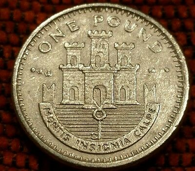 Gibraltar £1 Coin 700th Anniversary - Death of St. George in Prot Caps