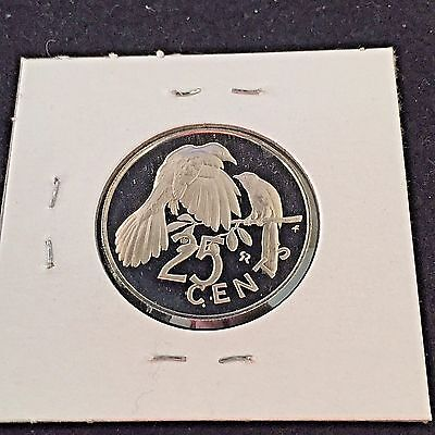 NICE BRITISH VIRGIN ISLANDS PROOF 1973 25 CENTS COIN km4 #215