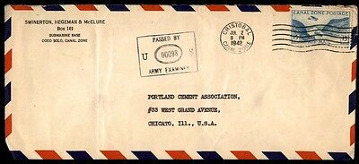 July 2, 1942 Canal Zone Panama Censored Cover To Illinois