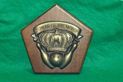 Vintage BOWLER OF THE MONTH Seagrams Advertising Award, Paperweight