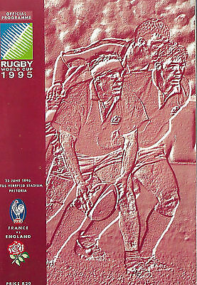 1995 IRB Rugby World Cup 3rd Place Match - FRANCE v. ENGLAND Official Programme