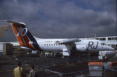 BRITISH AEROSPACE RJ70 BAe 146 G-BRLN ORIGINAL civil aircraft 35mm slide dia