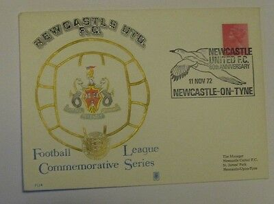 Football FDC/First Day Cover. 1972 Newcastle Utd 80th anniversary.