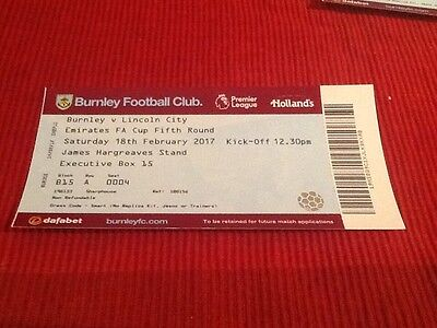 Burnley V Lincoln City F.a.cup 5Th Rd Executive Box Ticket