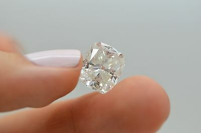 8 Carat Cushion G SI Certified Natural Loose Enhanced Diamond For Solitaire Ring