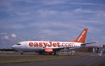 EASYJET BOEING 737-300 G-EZYH ORIGINAL civil aircraft 35mm slide dia