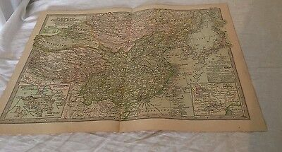 Vintage Chinese Empire The Map CENTURY DICTIONARY AND CYCLOPEDIA 1906 20189