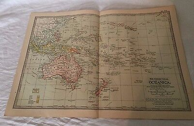 Vintage Oceanica The Map CENTURY DICTIONARY AND CYCLOPEDIA 1906 20203