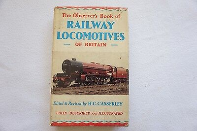 1960 The Observers Hardback Book of Railway Locomotives of Britain Casserley