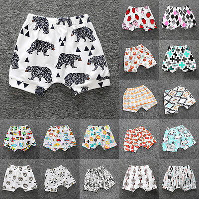 Toddler Infant Kids Baby Boys Girl's Print Harem Pants Trousers Leggings Bottoms