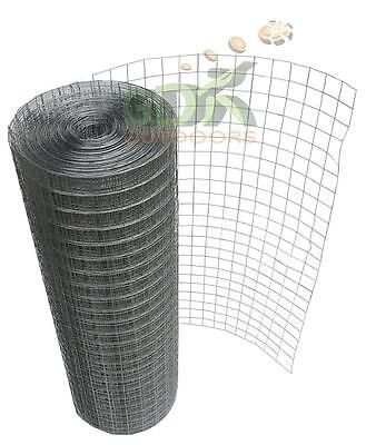 "GDK 1""x1"" Welded Wire Mesh,Aviary Fencing,Fence,Chicken Rabbit,Garden,Galvanised"