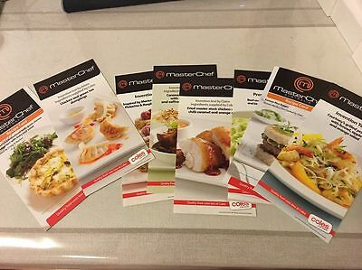 """8 Step by Step MASTER CHEF RECIPE INVENTION TEST CARDS """"COOK LIKE A MASTERCHEF"""""""