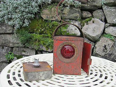 Vintage Traffic, Lantern , Parffin Lamp And Burner Oringinal Condition