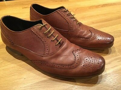 Men's Tan Brown Brogues By Front London Size 10 / 44