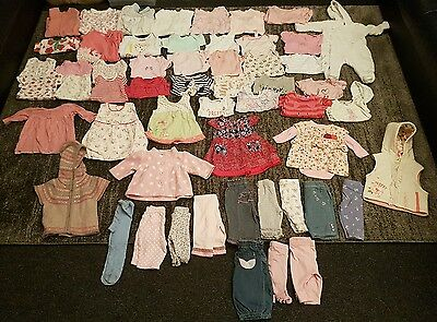 Baby Girls 0-3 Months clothes bundle 58 items