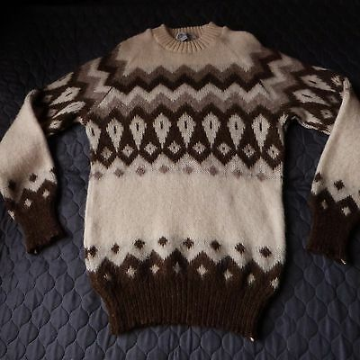 Icelandic Original Pure Natural Wool Jumper Pullover Unisex Size 8-10-12 Small