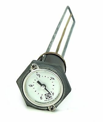 Rochester 8680 Series Flat Dial Vertical Spiral Fuel Level Gauge x 16""