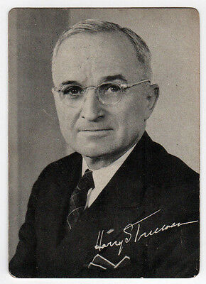 1948 HARRY TRUMAN Political PALM CARD Democratic National Committee PRESIDENT