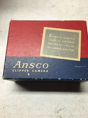 Vintage Ansco PD16 Clipper Camera with Original Box & Manual