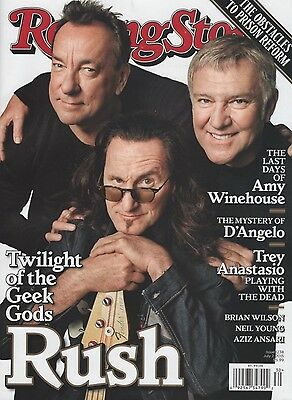 MINT! RUSH Rolling Stone Magazine July 2, 2015 Canadian Edition NO LABEL!