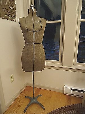 Vintage Circa 1940s L&M Acme Adjustable Dress Form Brooklyn NY with Stand