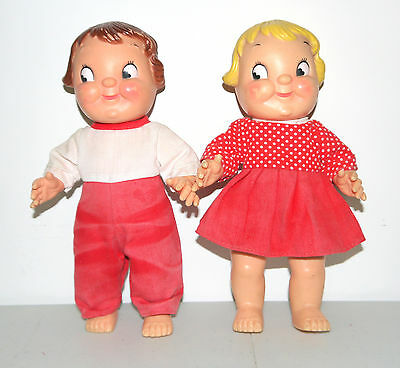 2 Campbells Soup Kid Doll Boy & Girl Dolls Kids Figure Advertising Collectible