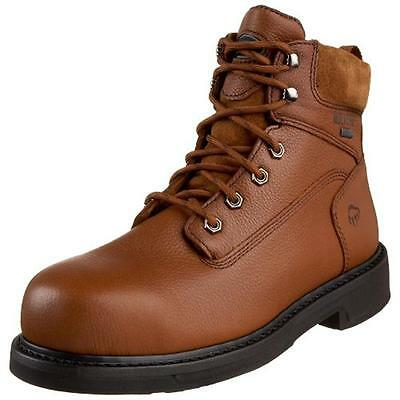 Wolverine 0913 Mens Durashocks Brown Work Boots Shoes 7 Extra Wide (E+) BHFO