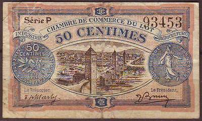 FRANCE Chambre de Commerce du LOT  50 Centimes 1921