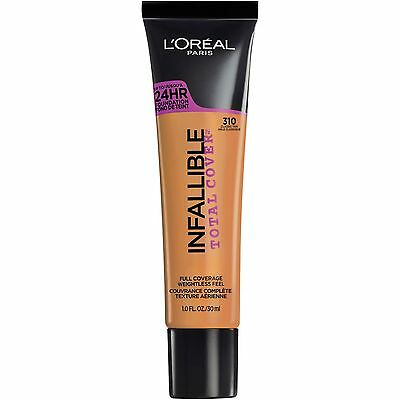 LOREAL Infallible Total Cover 24HR Foundation CLASSIC TAN 310 NEW