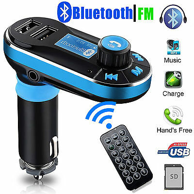 Handsfree Bluetooth FM Transmitter LCD SD MP3 Player Dual USB Charger Car Kit