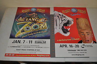 2 RINGLING BROTHERS AND BARNUM BAILEY CIRCUS POSTER 14X22 Real Advertisment #3