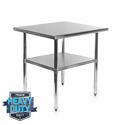 """Stainless Steel Commercial Kitchen Work Food Prep Table - 24"""" x 30"""""""