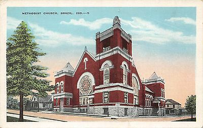 H1129    Brazil,  In.    Postcard,    Methodist  Church