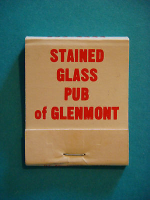 1980s Matches Matchbook ~*~ STAINED GLASS Pub Restaurant of Glenmont, MARYLAND