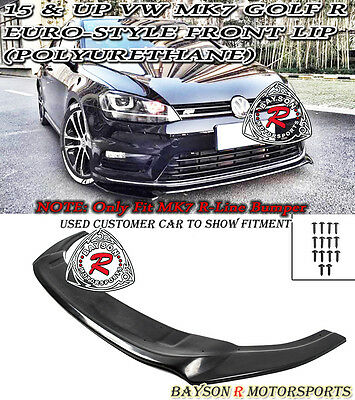 Euro-Style Front Lip (Urethane) Fits 15-17 VW MK7 Golf 7 R (Golf R Only)