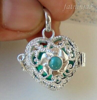 925 Balinese Traditional Design Pendant 28006 Turquoise Solid Silver