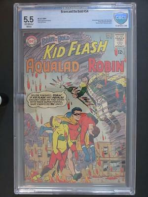 Brave and The Bold #54 - CBCS 5.5 FN- DC 1964 - 1st App/ORIGIN The Teen Titans!