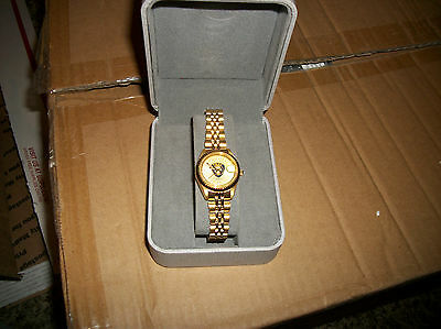 vintage ladies 1976 new conrail railroad police wristwatch in box