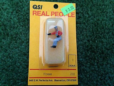 Qsi Real People S Scale Fireman Js20 Lead Figure New