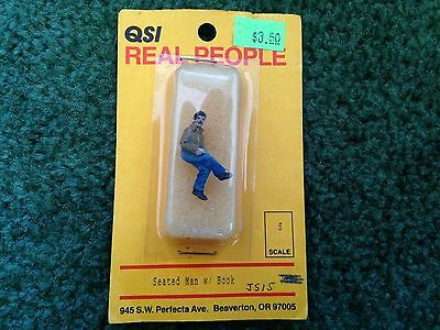 Qsi Real People S Scale Seated Man With Book Js15 Lead Figure New