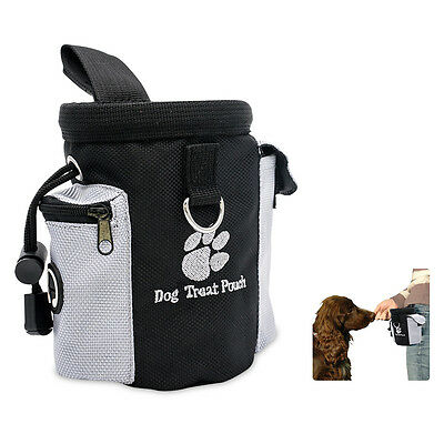 Pet Dog Cat Training Treat Snack Bag Pouch Storage Holder Dispenser With Clip
