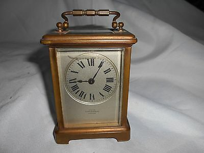 French Made Brass Carriage Clock
