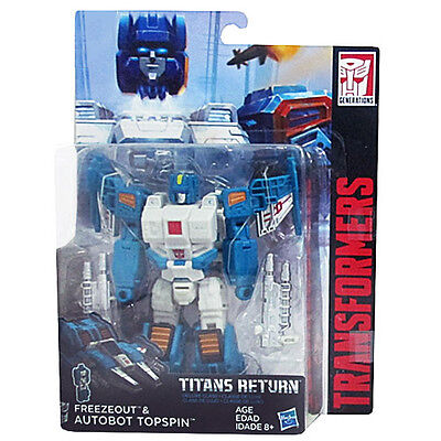 Hasbro Transformers Generations Titans Return Wave 4 Deluxe  Freezeout & Topspin