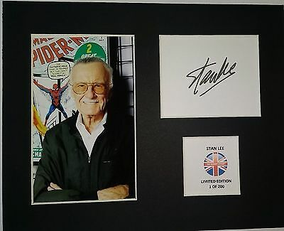 Limited Edition Stan Lee Comics Signed Mount Display AUTOGRAPH IRON MAN AVENGERS