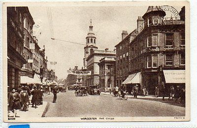 """""""""""postcard The Cross,worcester,dated 1947"""""""""""