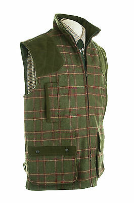 Tweed Shooting Vest Wool Tweed Olive New Shooting Hunting Large