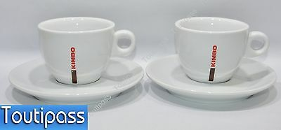 "KIMBO CAFE 2 Grandes tasses ""Royal Mason Porcelain GB"" café latte NEUF"