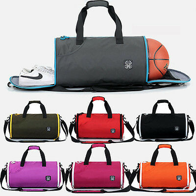 Men Women Fashion Sports Gym Bag Travel Hand Luggage Shoulder Crossbody Bag Pack