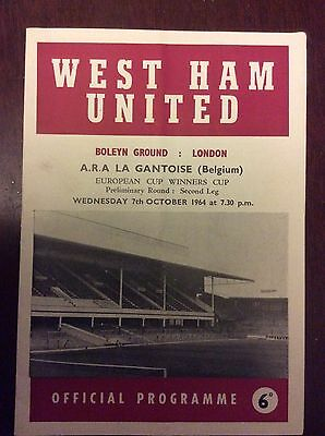 West Ham Utd V A.r.a. La Gantoise ~ Oct 1964 ~ European Cup Winners Cup ~